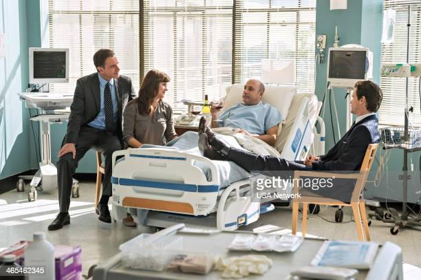 COLLAR 'Diamond Exchange' Episode 513 Pictured Tim DeKay as Peter Burke Tiffani Thiessen as Elizabeth Burke Willie Garson as Mozzie Matt Bomer as...