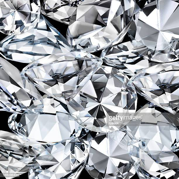 Diamond Facets Closeup as a  Background