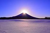 "Diamond Fuji Snowy scenery from ""Fujigane""Japan 01/26/2018"