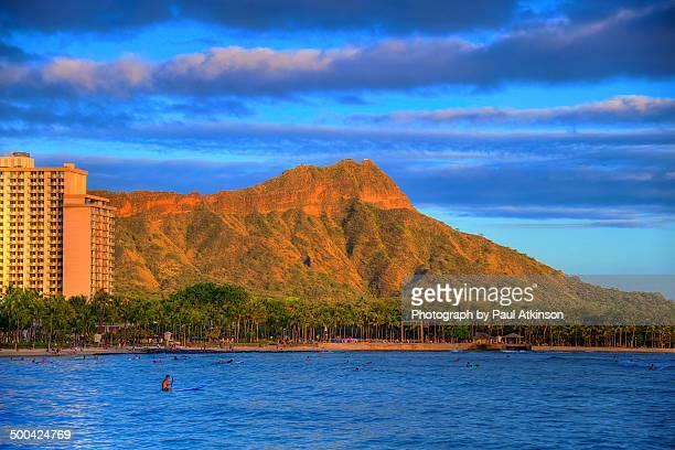 Diamond Head at Sunset, Oahu