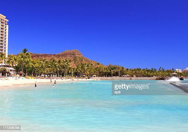 ホノルルダイヤモンドヘッドと太平洋の美しいハワイ州オアフ島