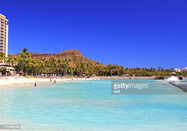 Diamond Head Honolulu Pacific ocean scenic on Oahu Hawaii