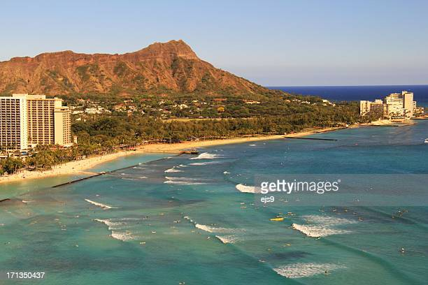 Diamond Head Honolulu Pacific ocean scenic on Oahu Hawaii