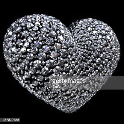 Diamond heart : Stockfoto