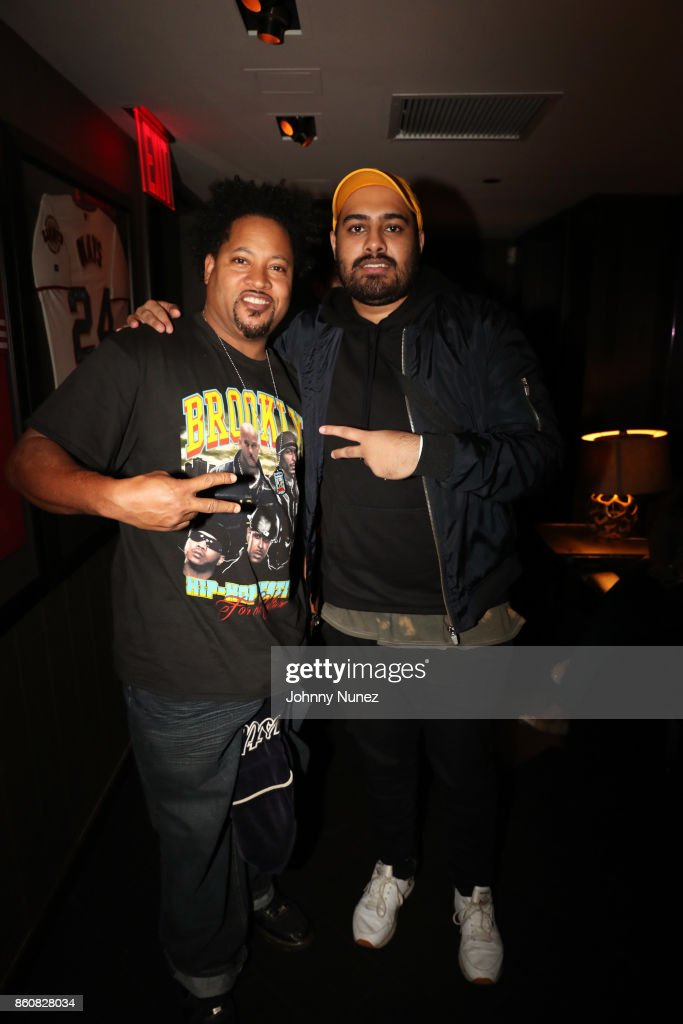 Diamond J (L) attends the MAINO Album Release Party at 40 / 40 Club on October 12, 2017 in New York City.