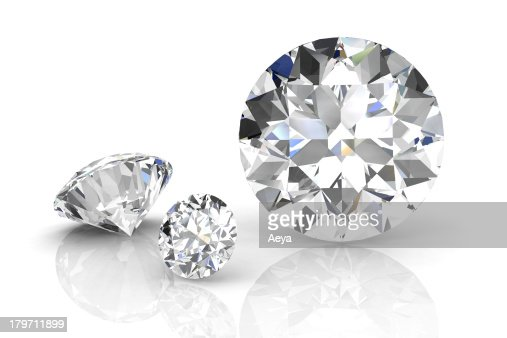 diamond jewel on white background. High quality 3d render : Stock Photo