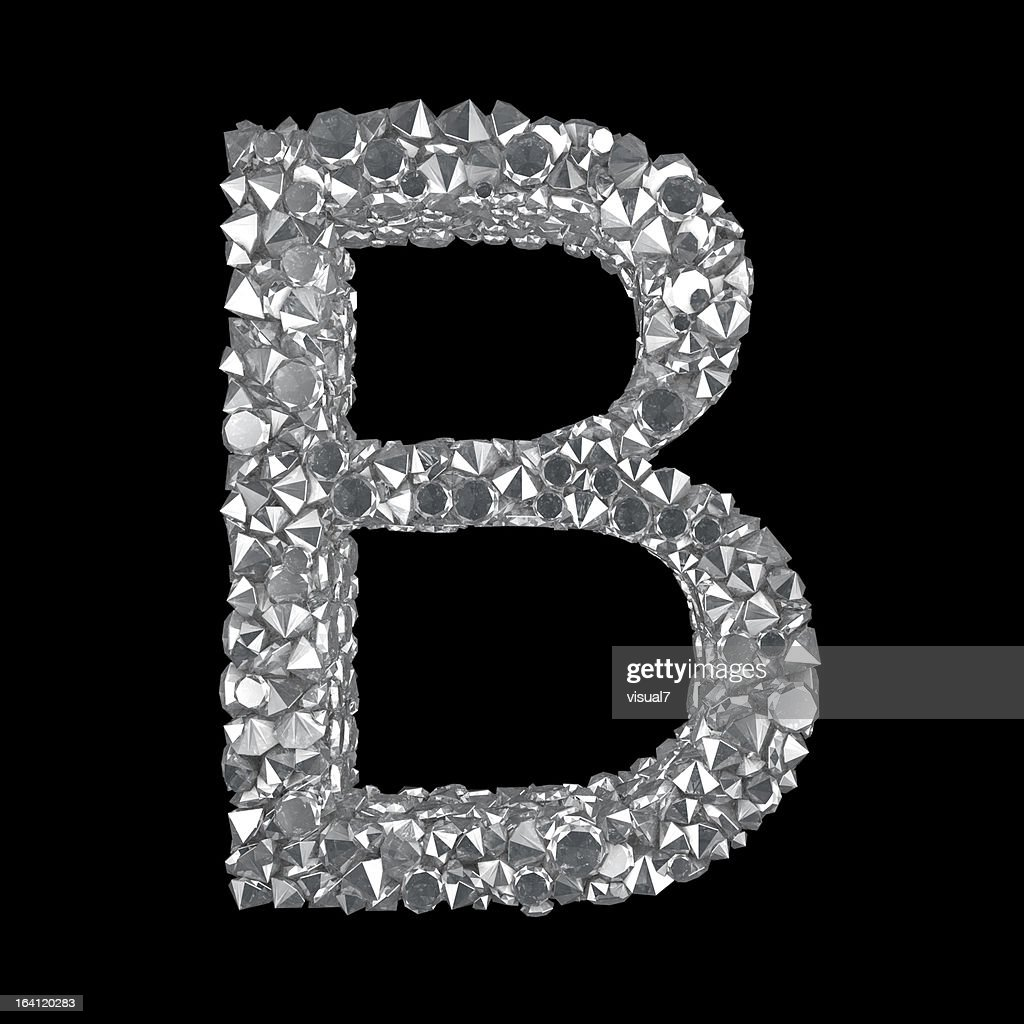 Diamond Letter B Stock...