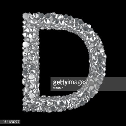 Diamond Letter D : Stock Photo