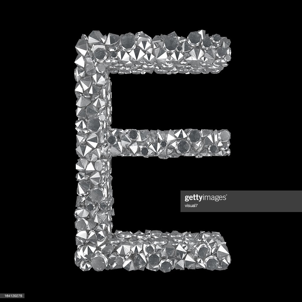 Diamond Letter E : Stock Photo