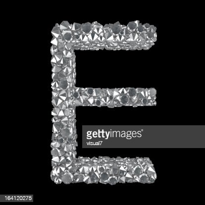 Diamond Letter E : Stockfoto