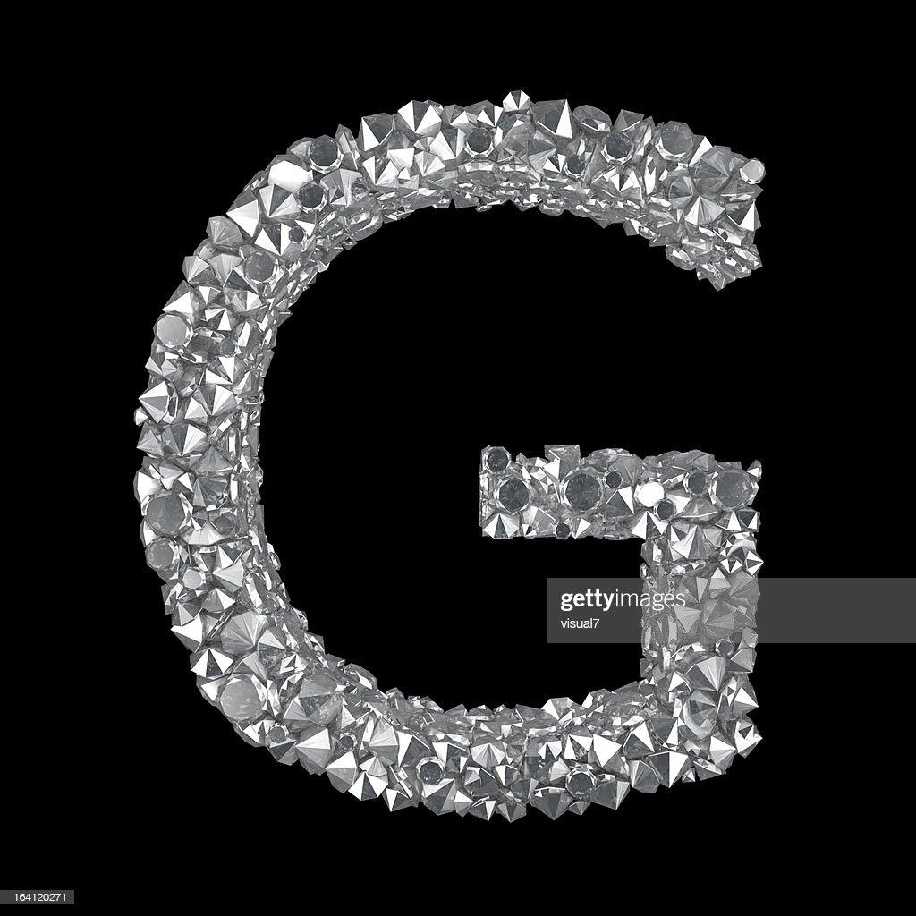 Diamond Buchstaben G : Stock-Foto