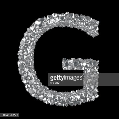 Diamond Letter G : Stock Photo
