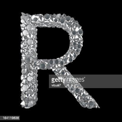 Diamond Letter R : Stock Photo