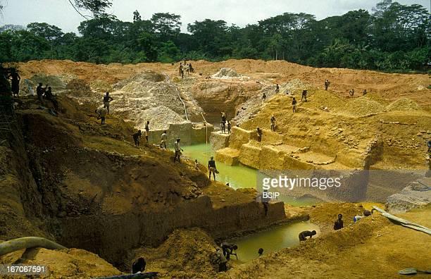 Diamond mine Diamond mine Sierra Leone Africa
