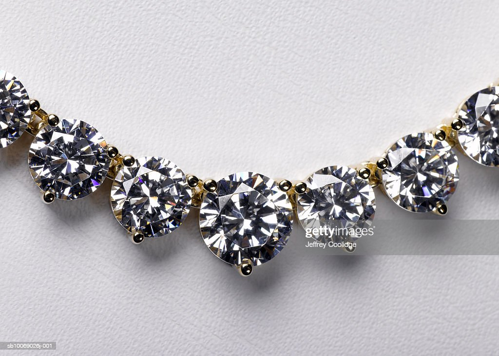Diamond necklace close-up, studio shot : Stock Photo