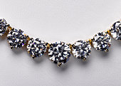 Diamond necklace close-up, studio shot