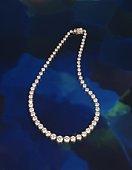 Diamond necklace, high angle view