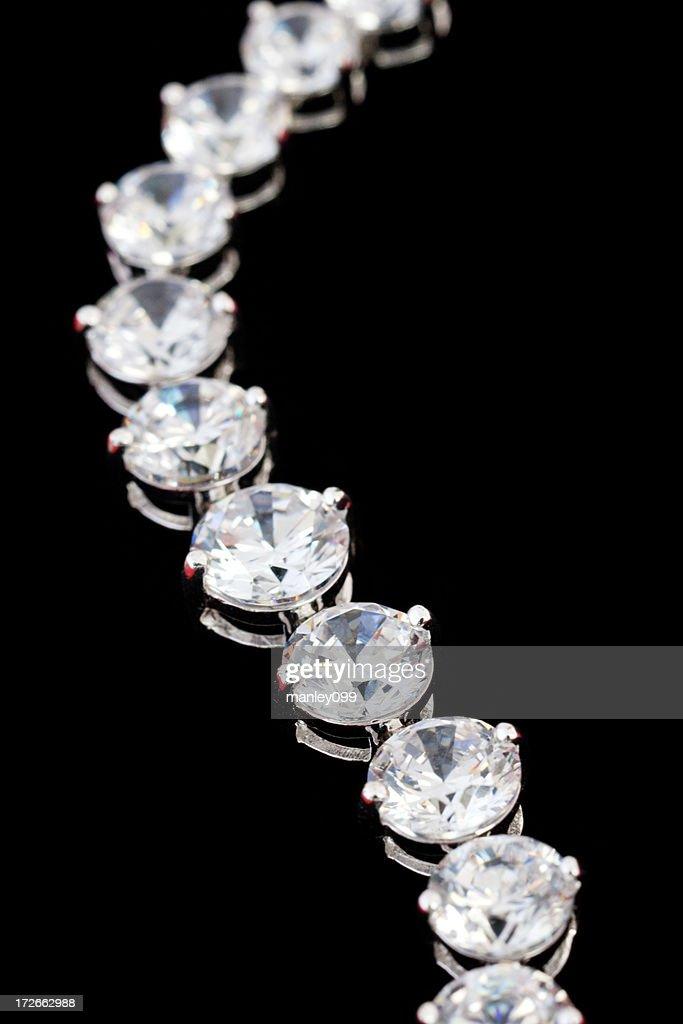 diamond necklace (macro shot)