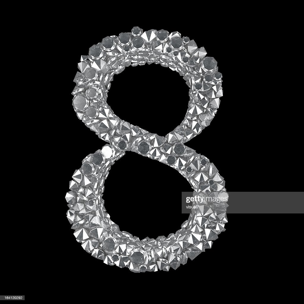 Diamond Number 8 : Stock Photo