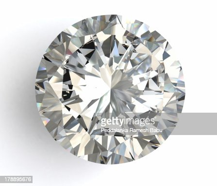 diamond on white background with high quality : Stock Photo