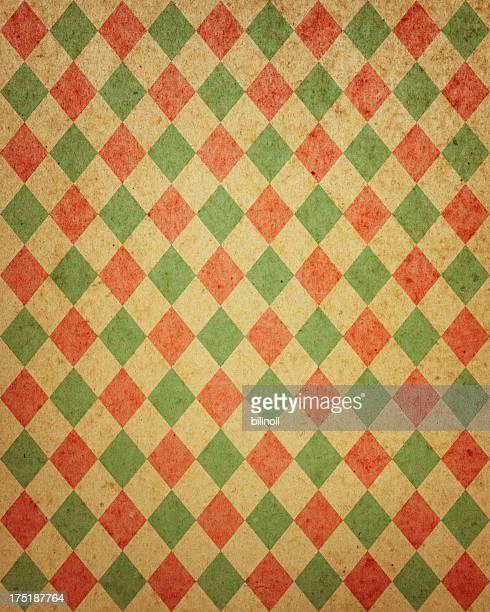diamond pattern distressed paper