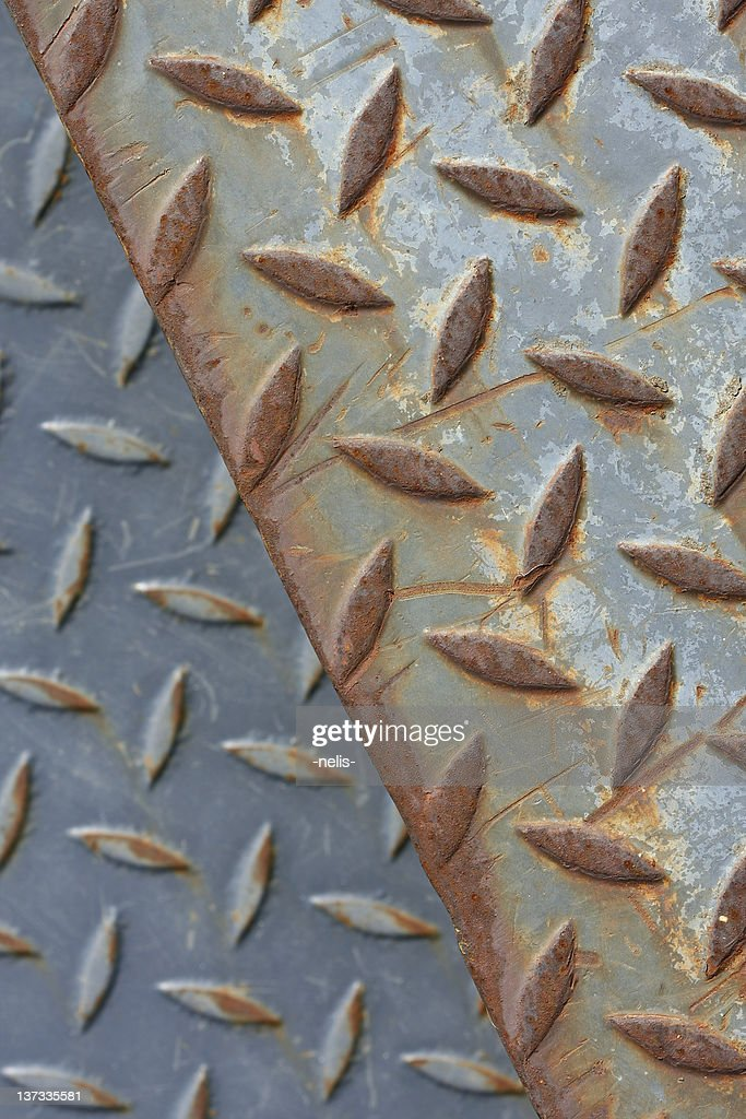 diamond plate steel background