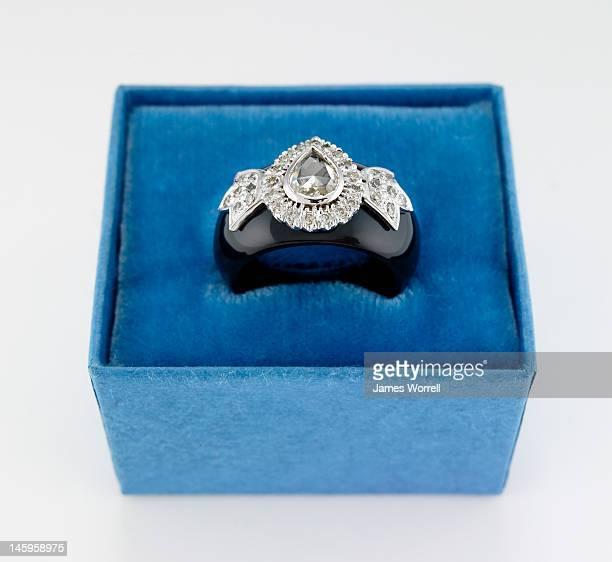 Diamond Ring in Blue Box
