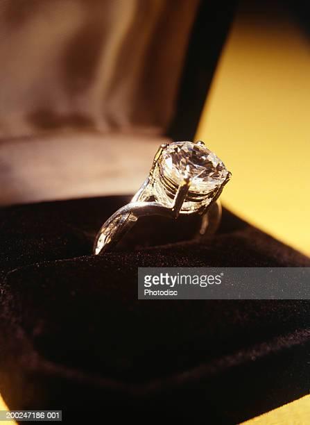 Diamond ring in box, (Close-up)