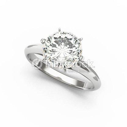 Diamond Ring, isolated on White Background : Stock Photo