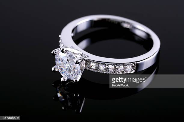 Diamond ring on a reflective surface