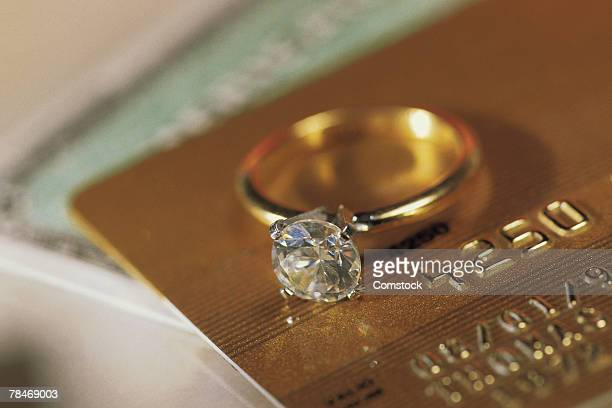 Diamond ring on credit cards