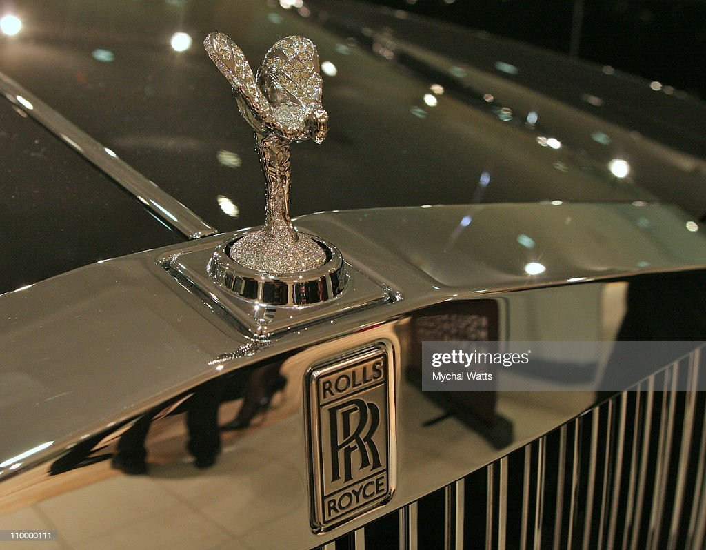 Diamond Rolls Royce Hood Ornament during Manhattan Motorcars Launch the Spyker Series of Exclusive Automobiles from Holland at Manhattan Motorcars in...