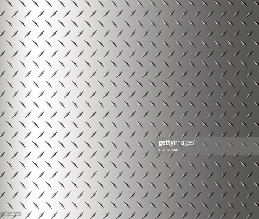 Diamond shape steel plate texture background, copy space