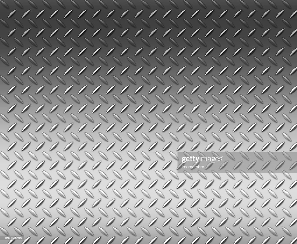 Diamond shape steel plate texture background with copy space