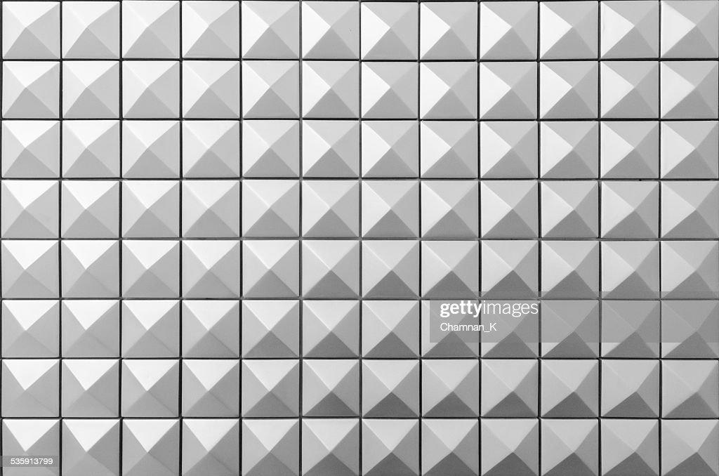 Diamond Shape Stud Pattern Background - Black and White : Stock Photo