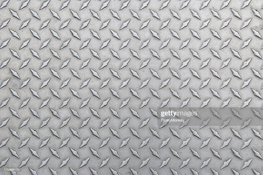 Diamond Steel Tread Background Slightly Worn Horizontal
