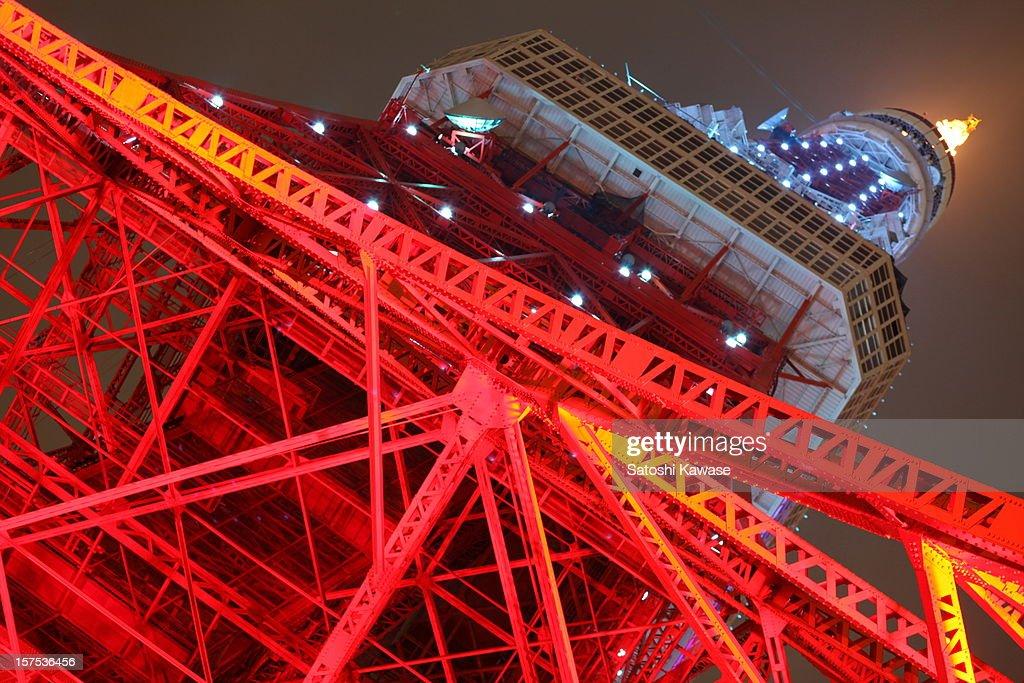 Diamond Veiled Tokyo Tower : Stock Photo