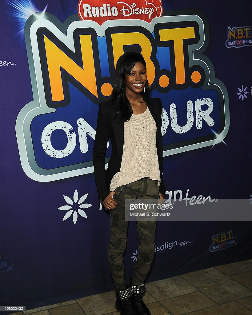 Diamond White arrives at the Radio Disney's 'N.B.T.' (Next BIG Thing) Season 5 winner and finale event at The Americana at Brand on December 8, 2012 in Glendale, California.