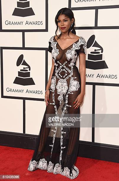 Diamond White arrives on the red carpet for the 58th Annual Grammy music Awards in Los Angeles February 15 2016 AFP PHOTO/ VALERIE MACON / AFP /...