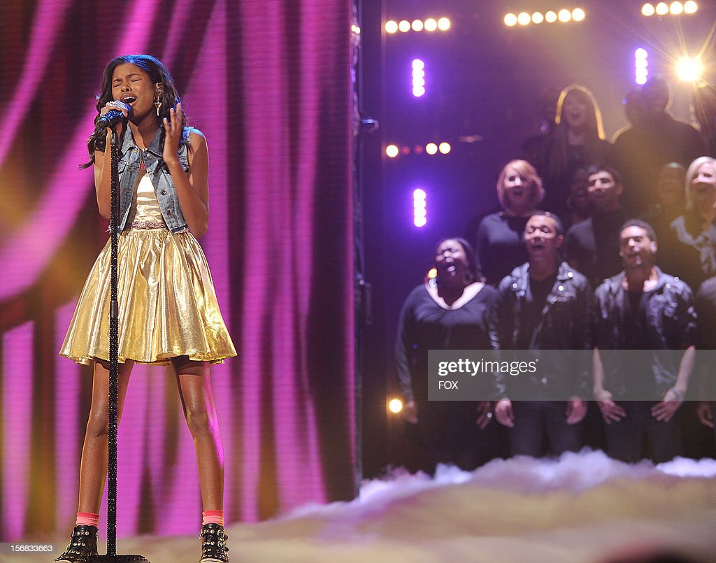 Diamond White onstage at FOX's 'The X Factor' Season 2 Top 10 Live Performance Show on November 21, 2012 in Hollywood, California.