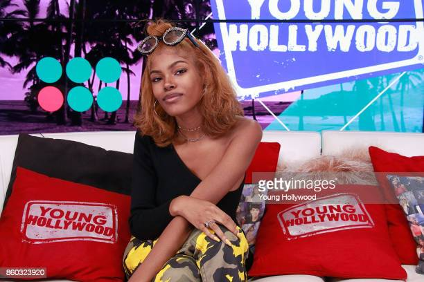 Diamond White visits the Young Hollywood Studio on October 11 2017 in Los Angeles California