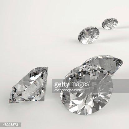 Diamants 3d comme concept de composition : Photo