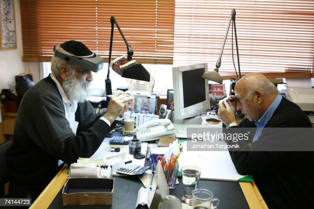 Diamonds are sorted and evaluated at one of the trading companies at the giant complex of the Israeli diamond Exchange November 2005 in RamatGan...