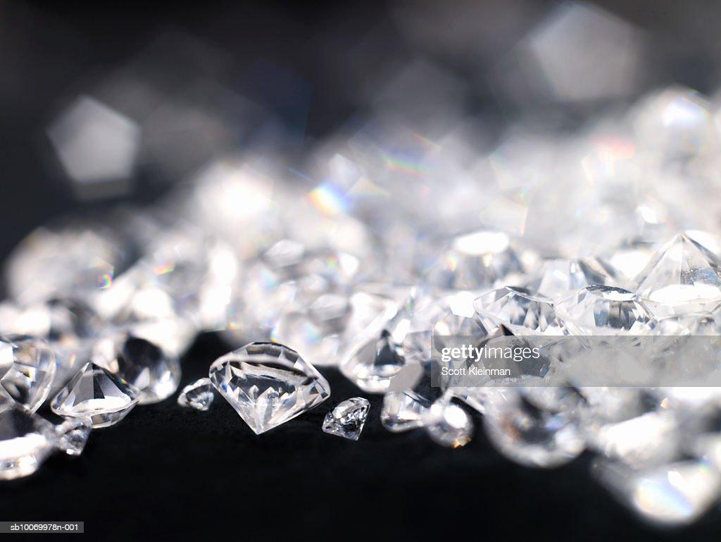 Diamonds, close-up : Stock Photo