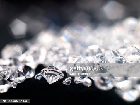 Diamonds, close-up : Stock Photo