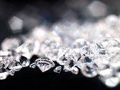 Diamonds, close-up