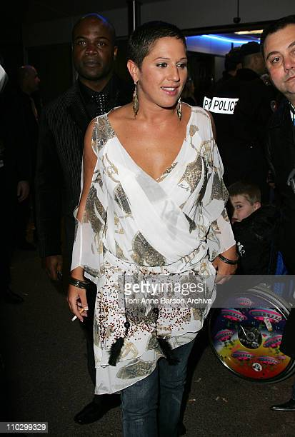 Diam's during 2007 NRJ Music Awards After Show Departure in Cannes France