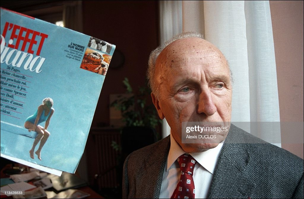 Diana Affair - Pierre Ottavioli In His Office On February 8th, 1998 - In Paris,France