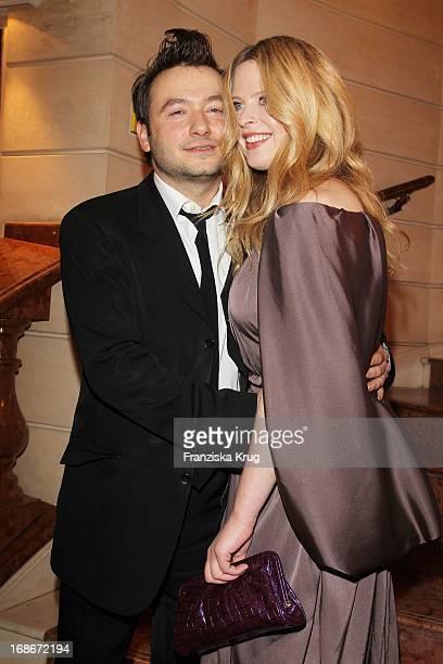 Diana Amft and friend Granz Henman at 37th German Filmball at Hotel Bayerischer Hof in Munich on 160110