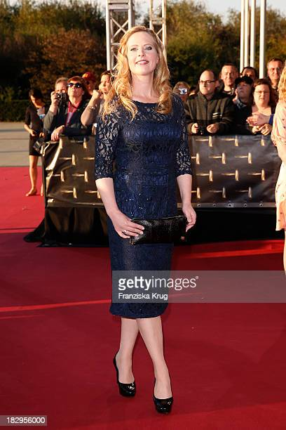 Diana Amft attends the Deutscher Fernsehpreis 2013 Red Carpet Arrivals at Coloneum on October 02 2013 in Cologne Germany